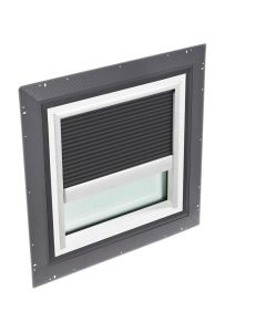 """VELUX QPF 4646 2006CH41 Skylight Pan Flashed with Blinds 2x Pleated 46 1/2""""x46 1/2"""" Charcoal"""