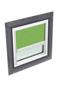 """VELUX QPF 4646 2006CH42 Skylight Pan Flashed with Blinds 2x Pleated 46 1/2""""x46 1/2"""" Green"""