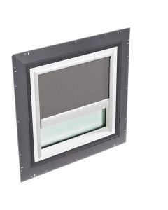 """VELUX QPF 4646 2006CH43 Skylight Pan Flashed with Blinds 2x Pleated 46 1/2""""x46 1/2"""" Grey"""