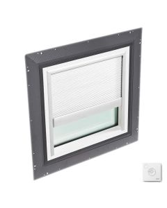 """VELUX QPF 4646 2006CS00X Skylight Pan Flashed with Solar-X Blinds 2x Pleated 46 1/2""""x46 1/2"""" White"""