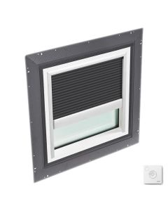 """VELUX QPF 4646 2006CS41X Skylight Pan Flashed with Solar-X Blinds 2x Pleated 46 1/2""""x46 1/2"""" Charcoal"""