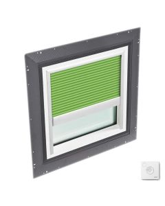 """VELUX QPF 4646 2006CS42X Skylight Pan Flashed with Solar-X Blinds 2x Pleated 46 1/2""""x46 1/2"""" Green"""