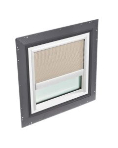 """VELUX QPF 4646 2006FH01 Skylight Pan Flashed with Blinds 46 1/2""""x46 1/2"""" Classic Sand"""