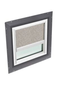 """VELUX QPF 4646 2006FH31 Skylight Pan Flashed with Blinds 46 1/2""""x46 1/2"""" Misty Brown"""