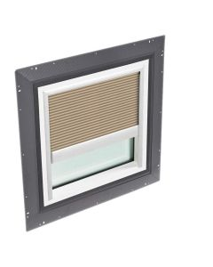 """VELUX QPF 4646 2006FH32 Skylight Pan Flashed with Blinds 46 1/2""""x46 1/2"""" Lovely Latte"""