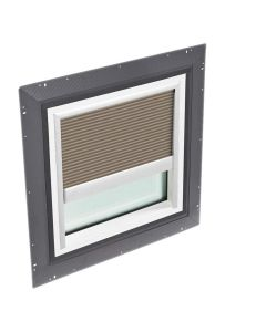"""VELUX QPF 4646 2006FH33 Skylight Pan Flashed with Blinds 46 1/2""""x46 1/2"""" Cappuccino"""