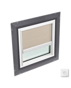"""VELUX QPF 4646 2006FS01X Skylight Pan Flashed with Solar-X Blinds 46 1/2""""x46 1/2"""" Classic Sand"""
