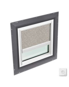 """VELUX QPF 4646 2006FS31X Skylight Pan Flashed with Solar-X Blinds 46 1/2""""x46 1/2"""" Misty Brown"""