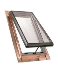 "VELUX QVT 3045 2075T Skylight Vented Pan Flashed Tempered Low E2 30.5""x45.5"" Copper"