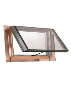 "VELUX QVT 4522 2075T Skylight Vented Pan Flashed Tempered Low E2 45.5""x22.5"" Copper"