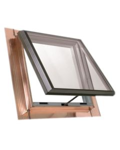 "VELUX QVT 4545 2075T Skylight Vented Pan Flashed Tempered Low E2 45.5""x45.5"" Copper"