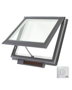 "VELUX VSS M02 2006 Skylight Solar Deck Mount Fresh Air Low E Impact 30 1/16""x30"""
