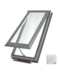 "VELUX VSS M08 0004 Skylight Solar Deck Mount Fresh Air Low E Stain Grade Wood 30 1/16""x54 7/16"""