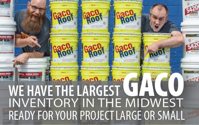 We have the largest Gaco inventory in the Midwest. Ready for your project, large or small.