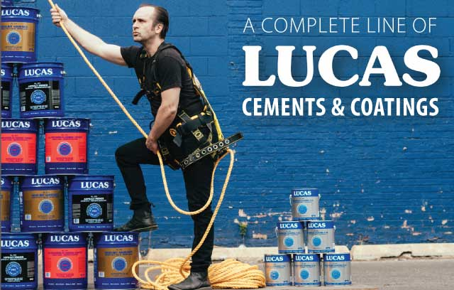Photo of a tower of R.M. Lucas Products being climbed by a savvy and fully trained  Lucas climbing professional