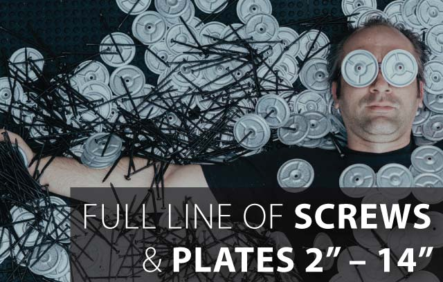 Luxuriate in our abundant selection of screws and plates!